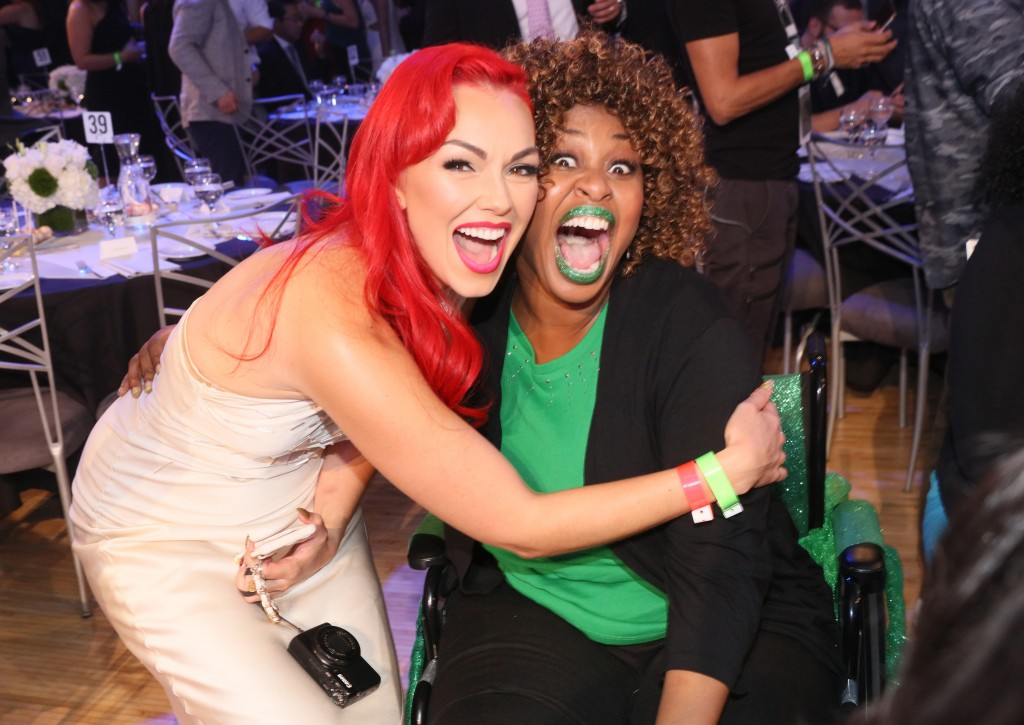 LOS ANGELES, CA - SEPTEMBER 17: Internet personalities Kandee Johnson (L) and GloZell attend VH1's 5th Annual Streamy Awards at the Hollywood Palladium on Thursday, September 17, 2015 in Los Angeles, California.  (Photo by Mark Davis/Getty Images for Dick Clark Productions)