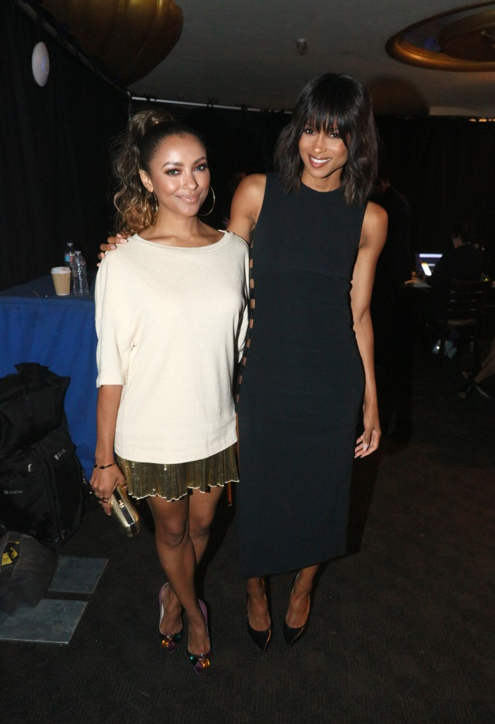 LOS ANGELES, CA - SEPTEMBER 17:  Actress Kat Graham (L) and recording artists Ciara backstage at VH1's 5th Annual Streamy Awards at the Hollywood Palladium on Thursday, September 17, 2015 in Los Angeles, California.  (Photo by Mark Davis/Getty Images for Dick Clark Productions)