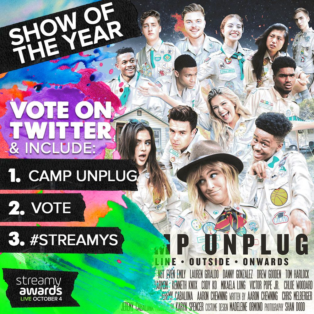 How To Vote for Camp Unplug for Streamys Show of the Year