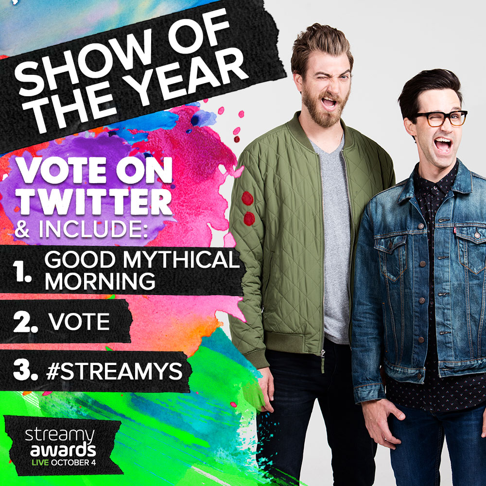 How To Vote for Good Mythical Morning for Streamys Show of the Year