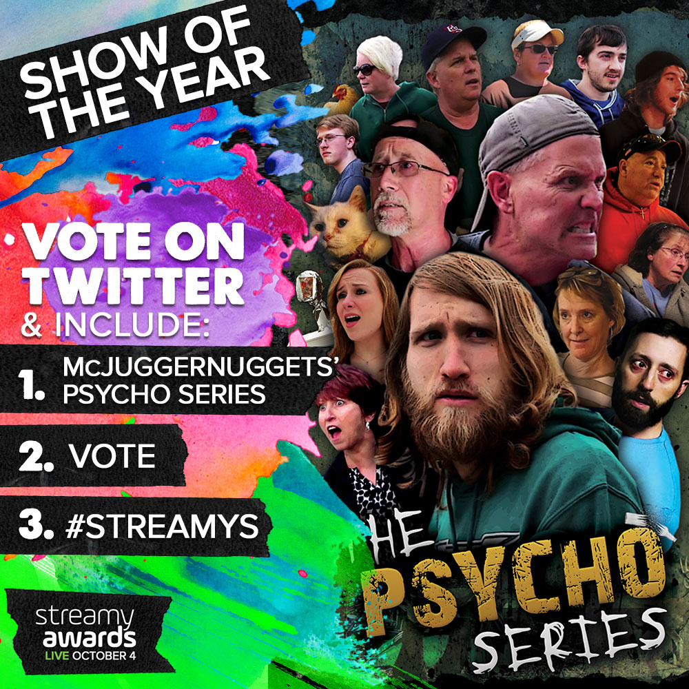 How To Vote for The Psycho Series for Streamys Show of the Year