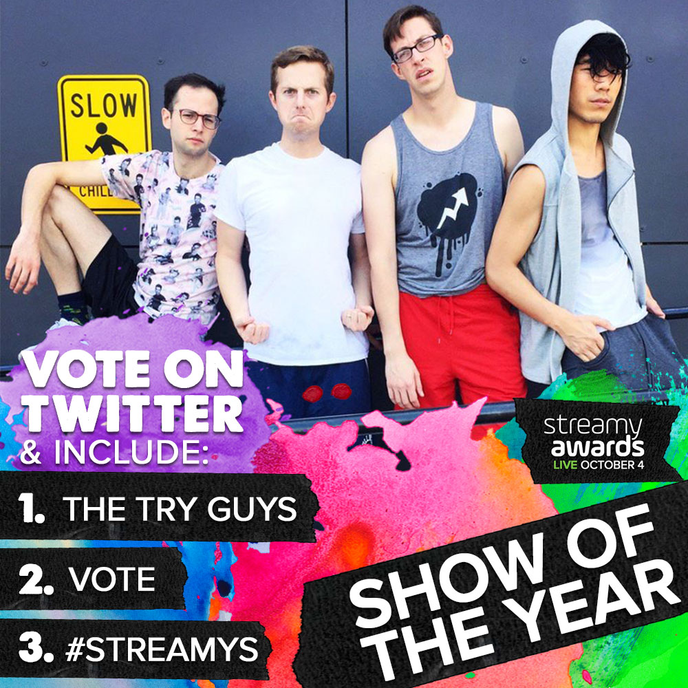 How To Vote for The Try Guys for Streamys Show of the Year