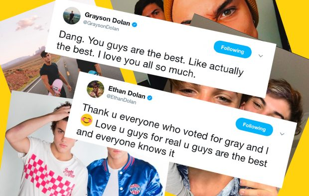 Fans React to Dolan Twins' Creator of the Year Win
